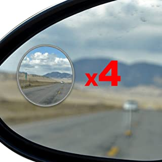 Blind Spot Mirror - 4 Pack Blind Spot Mirror for SUV - Blind Spot Mirrors for Cars - Motorcycles, Trucks, Snowmobiles As Well - Rust Resistant Aluminum Rear View Blind Spot Mirrors 4pcs