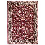 Festnight Alfombra Oriental de Estampado con Diseño Clásico Persa Rojo y Beige 80x150cm