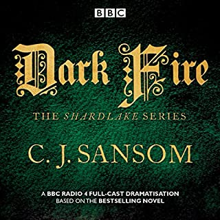 Shardlake: Dark Fire     BBC Radio 4 full-cast dramatisation              By:                                                                                                                                 C.J. Sansom                               Narrated by:                                                                                                                                 Full Cast,                                                                                        Justin Salinger,                                                                                        Robert Glenister                      Length: 2 hrs and 13 mins     86 ratings     Overall 4.7