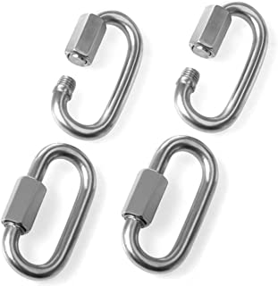 8mm Quick Link Oval Carabiner Chain Quick Links Connector 4pcs M8 Stainless Steel Swing Clip Screw Lock Swing Set By STARVAST For Swing Play Set