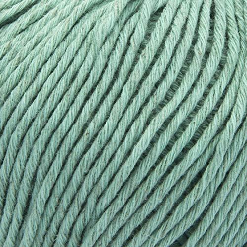 ggh Linova | Baumwolle & Leinen Mischung | 50g Wolle zum Stricken oder Häkeln | Farbe 058 - Blassgrün