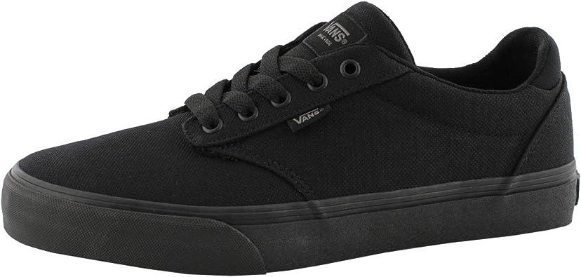 Amazon.com | Vans' Men's Atwood Deluxe Lace Up Sneaker Blk/Blk ...