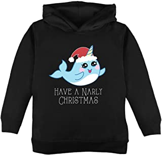 Narwhal Have a Narly Gnarly Christmas Toddler Hoodie