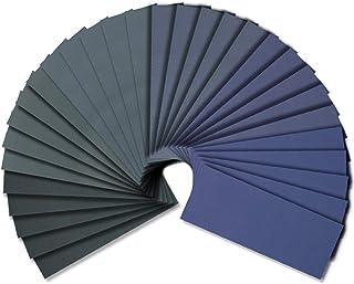 Wet Dry Sandpaper, Assorted 3000/2500/2000/1500/1200/1000 Grit for Automotive Wood Sanding, 54 Sheets