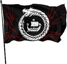 HGHGH Mitología nórdica Vikingo 3x5 Bandera de pie Banderas al Aire Libre 100% poliéster 3x5 pies Bandera de decoración de jardín