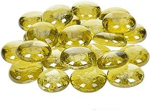 efco–Pepitas de Cristal Iridiscente 13–15mm, Oro, Pack de 35