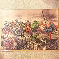 ポスター「マーベル キャラ集合 アイアンマン スパイダーマン バットマン」