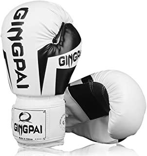 XYXZ Boxing gloves MMA Boxing Gloves Muay Thai Training Pro Grip Hide Sparring Punching Bag Breathable Mitts Adult Childre...