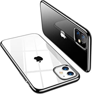 TORRAS Crystal Clear iPhone 11 Case, Soft Silicone TPU Thin Cover Slim Gel Phone Cover Case for iPhone 11 6.1 inch (2019), Black