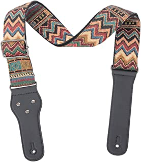 EXCEART Guitar Carrier Strap Multi Color for Acoustic Guitar Electric Guitar and Bass Shoulder Bohemian Style Guitar Sling...