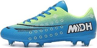 Pojke fotbollsskor, tonåringar fotboll atletiska spikar, halkfria andningsfotboll träningsskor, utomhus sneakers