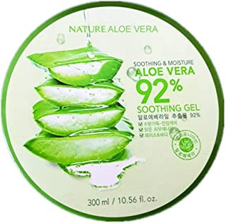 Roushun 92 Percent Aloe Vera Face and Body Gel, 300 ml