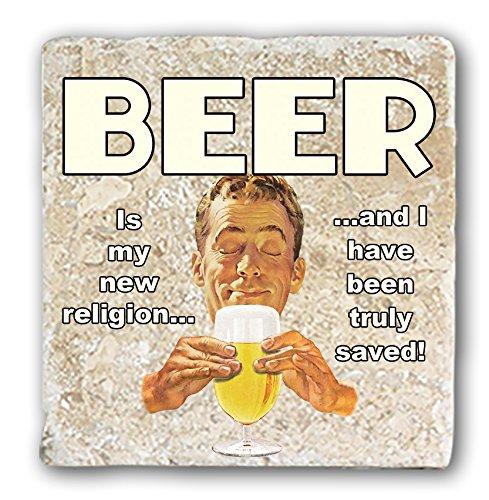 Naturel Dessous de Verre en marbre – Bière New Religion