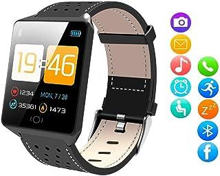 comprar comparacion Sulida Smartwatch, Reloj Inteligente IP68 Impermeable Pulsera Actividad Inteligente con Pulsómetro, Monitor de Sueño, Podó...