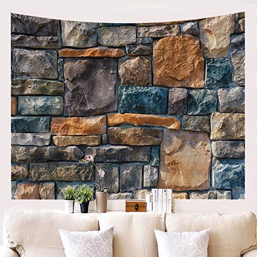 DreamyDesign Einfache Art Wandteppich Steinmuster Tapisserie Hirsch Muster Wanddekoration Frische Und Niedliche Tier Tapisserie Hängendes Tuch(Stein 2-100 x 150 cm)