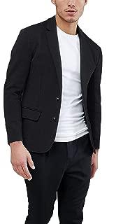 Mens Casual Two Button Suits Lapel Blazer Jacket Lightweight Sport Coat
