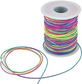 girovita collane abbigliamento progetti fai da te Bobina di filo elastico largo 2,5 mm WedDecor decorazioni 25 metri Nero per realizzare braccialetti lavori a maglia creazione di gioielli