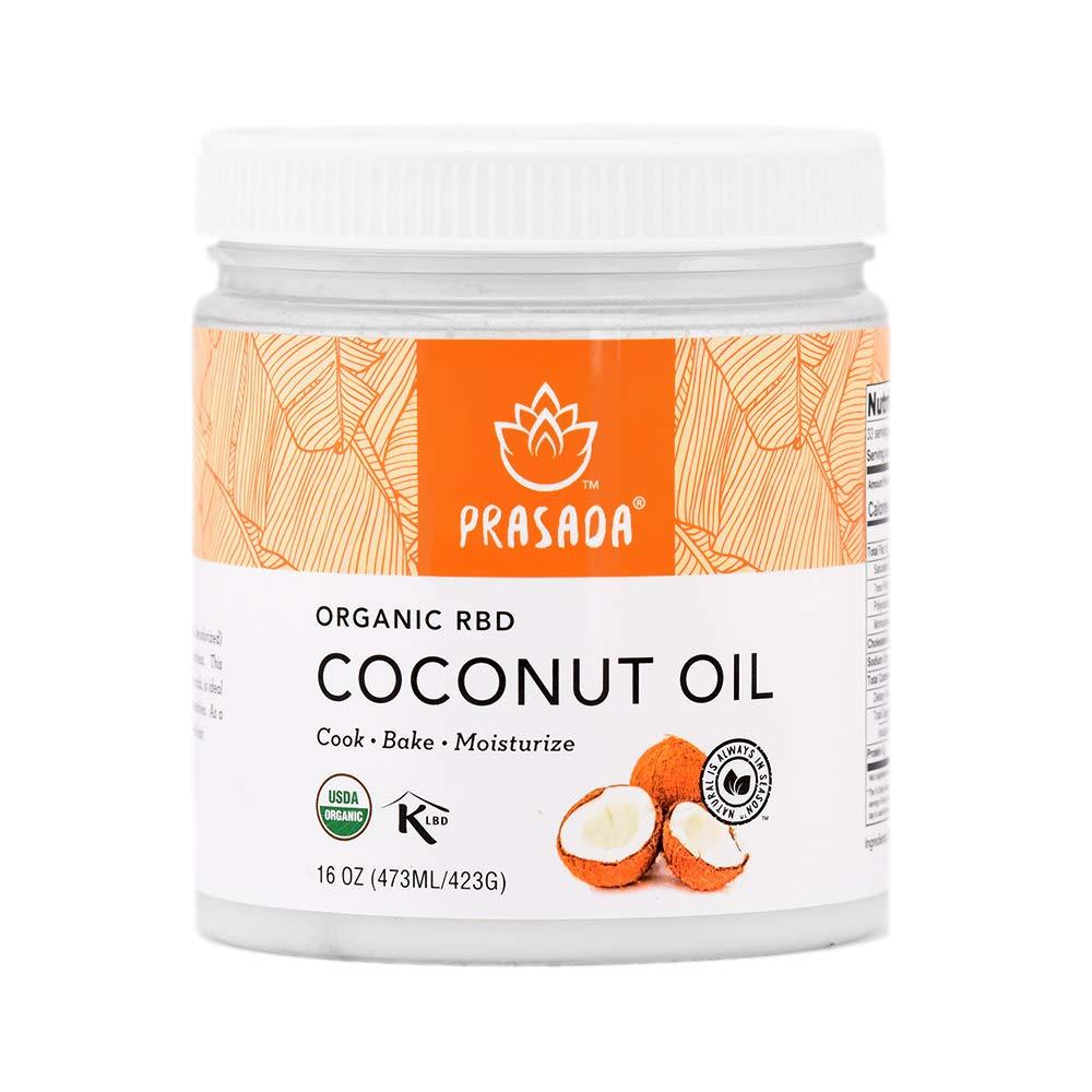 Prasada Max 63% OFF Max 88% OFF Organic Refined Coconut 16oz Expeller-Pressed N Oil