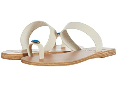 Ancient Greek Sandals Thalia Gems (Off-White/Blue Gems) Women