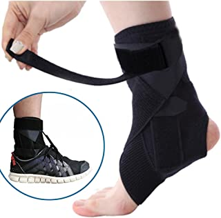 Adjustable Drop Foot Support AFO Brace Strap Elevator Poliomyelitis Hemiplegia Stroke Plantar Fasciitis Stabilizer, Universal Size