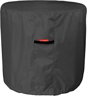 Porch Shield 100% Waterproof 600D Heavy Duty Patio Air Conditioner Cover (Round Air Conditioner Cover, Black)