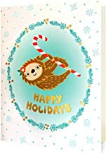 product image for Night Owl Paper Goods Sloth Holiday Foil Stamped Holiday Cards, 8 Pack