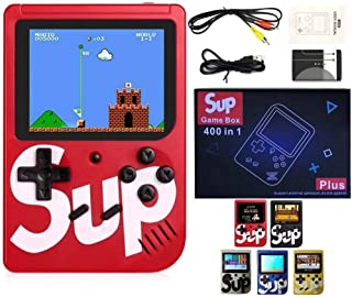 SUP Game Box Plus 400 in 1 Retro Games UPGRADED VERSION mini Portable Console Handheld Gift By PRIME TECH ™ (Red)