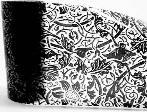1,0 m de Nail Art d'écran/Film/Film de grattage : # FO – 99 de transfert : Black Lace/dentelle noire/Ranken (Transparent)