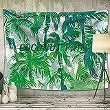 Arazzo da Parete con Coconut Grove, 130x150cm Arazzo Grande con Foresta Pluviale Telo Tape...