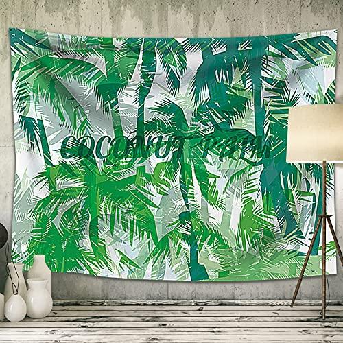 Tapiz Pared Coconut Grove, Natural Bosque Tarot Grande Tapiz de Pared Decoracion Tapestry Hippie para Sofá Dormitorio, Tapiz Picnic Tela Tapestry Pareo Toalla de Playa Pared Decoración 150x130cm