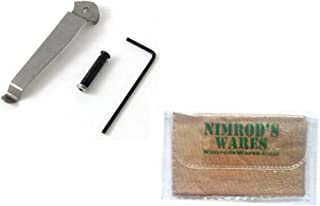 Nimrod's Wares Kel-Tec P-32 P-3AT Belt Clip Right Hand Stainless P32 P3AT P32-380SRH Bundle Microfiber Cloth
