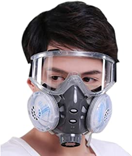 Holulo Chemical Anti-Dust Respirator Mask w/Goggles Set Gas Mask