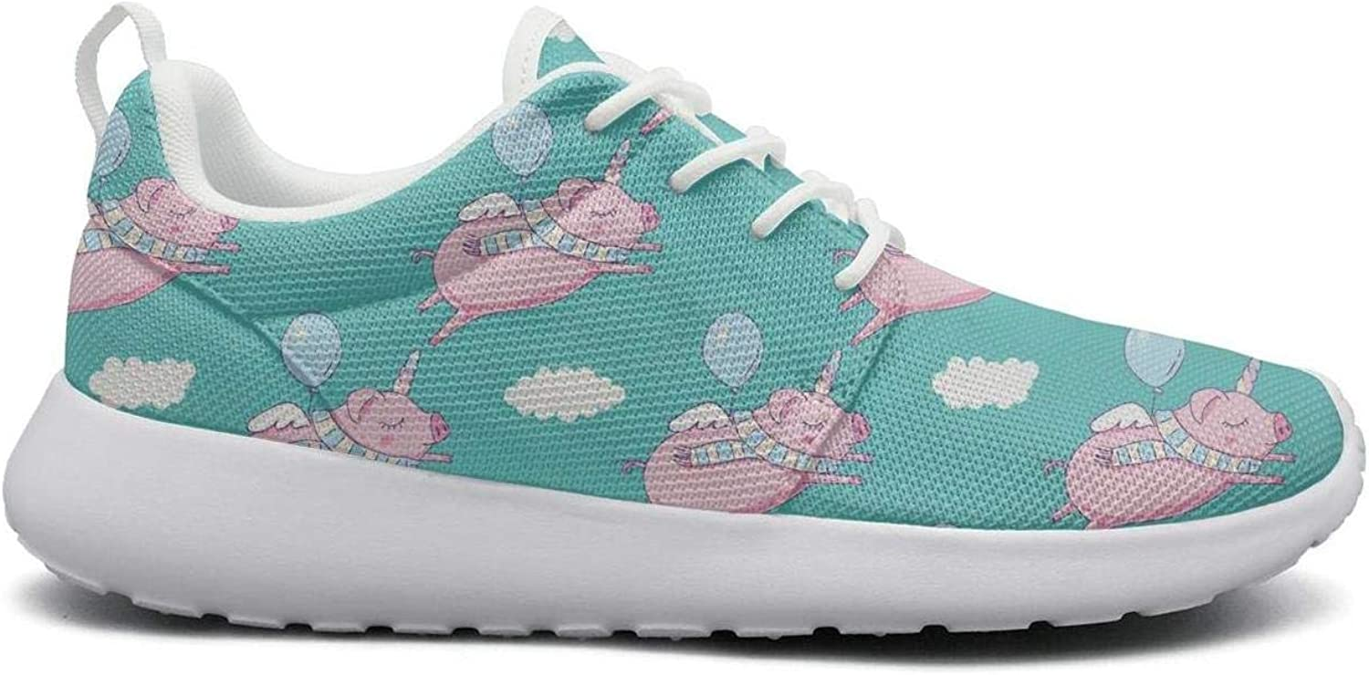 Gjsonmv Cute Lazy Pig Sleeping in The Cloud As Pegasus mesh Lightweight shoes for Women Dad Sports Athletic Sneakers shoes