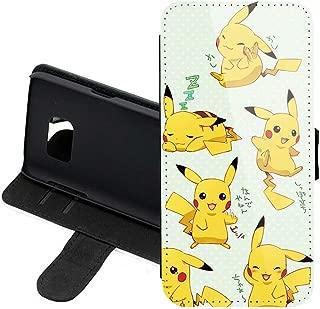Case for Samsung S9, Pokemon Pikachu PU Leather Stand Wallet Folio Flip w/ID Credit Card Slot + Thewart8 Stylus Pen (#24)