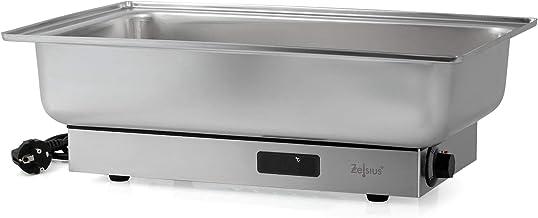 Zelsius Chafing Dish électrique en acier inoxydable pour GN 1/1 | 9 litres | jusqu'à 80°C avec écran | Chauffe-plat pour b...