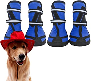 wersdf Dog Shoes Dog Boots Protective Waterproof Non Slip Dog Socks Dog Booties Pet Boots Dog Paw Protector Dog Socks Dog Shoes For Small Dogs blue,xs