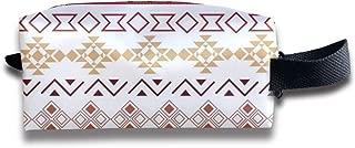 Seamless Tribal Pattern_320 Canvas Makeup Bag Pouch Purse Handbag Organizer with Zipper