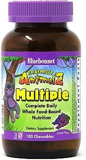 Bluebonnet Nutrition Rainforest Animalz Whole Food Based Multiple Chewable Tablets, Kids Multivitamin & Mineral, Vitamin C...