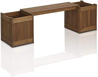 Furinno FG16011 Tioman Patio Furniture Hardwood Planter Box in Teak Oil (Renewed)
