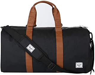 Herschel Supply Co. Novel Mid-Volume, Black/Tan Synthetic Leather (10351-00001-OS)