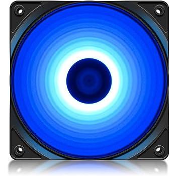 DeepCool RF120 Blu Ventola 4 LED Blu da 120mm Fan Silenziosa per PC Computer Gaming 1300RPM ad Alte Prestazioni 3+4 Pin