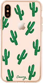 Casery Case Designed for The Apple iPhone, Cactus (Desert Green) - Military Grade Protection - Drop Tested - Protective Slim Clear Case for Apple iPhone X/Xs