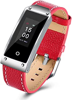 SXFYMWY Rastreador de Actividad frecuencia cardíaca monitorización de sueño multifunción Impermeable Bluetooth Llamar SMS Mensaje Push Pulsera Inteligente