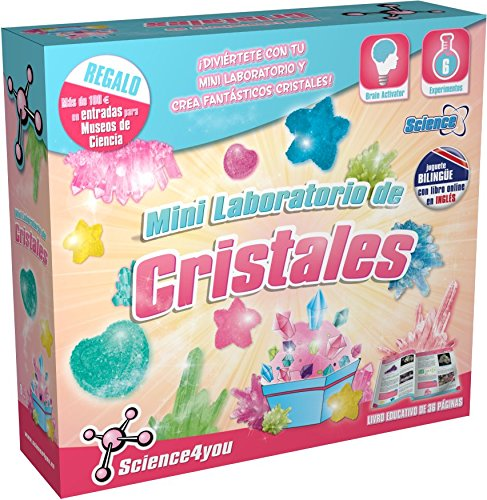 Science4you-Mini laboratori de cristalls, joguet educatiu i científic (394674)