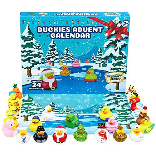 KreativeKraft Rubber Ducks Advent Calendar 2021, Advent Bath Toys, 24 Days Christmas Countdown Calendar, Surprise Xmas Gifts