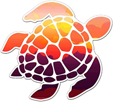 Amazon Com Sunset Sea Turtle Decal 5 Inch Indoor And Outdoor Use White Outline Home Improvement Turtle graphics is a popular way for introducing programming to kids. sunset sea turtle decal 5 inch indoor