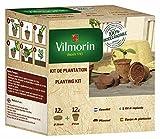 Vilmorin 3990624 3990624 - Confezione di bicchieri da 6 cm + 12 pastiglie in fibra di cocco compressa, colore: Marrone