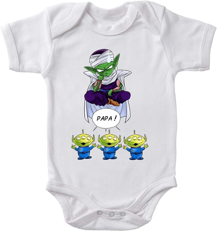 Toy Story parodique Piccolo aka Satan Petit Coeur et Les Aliens Okiwoki Body b/éb/é Blanc Dragon Ball Z Papa !! Parodie Dragon Ball Z - Toy Story
