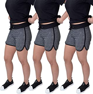 Kit de 3 Shorts Feminino Moletinho New Basic