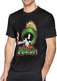 Marvin The Martian Planet Mens Unisex T-Shirt for Kids Black